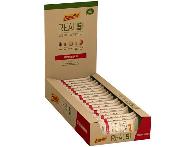 PowerBar REAL5 Boîte de barres 18x65g, Strawberry Raisin